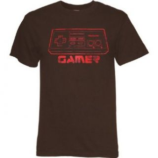 Nintendo Gamer Flocked Controller Logo Mens T Shirt