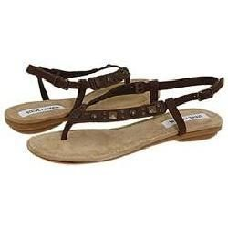 Steve Madden Chikaa Brown Nubuck Sandals