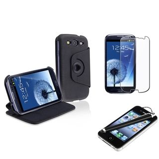 BasAcc Leather Case/ Protector/ Stylus for Samsung Galaxy S III/ S3