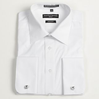 Jean Paul Germain Mens White French Cuff Dress Shirt