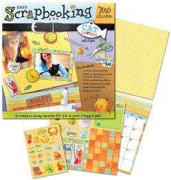 Cat Lovers Easy Scrapbooking 2010 Calendar