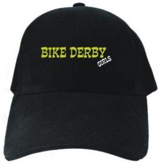 Bike Derby GIRLS Black Baseball Cap Unisex Clothing