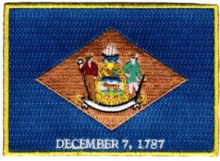 Delaware State Flag Embroidered Patch Iron On DE Emblem