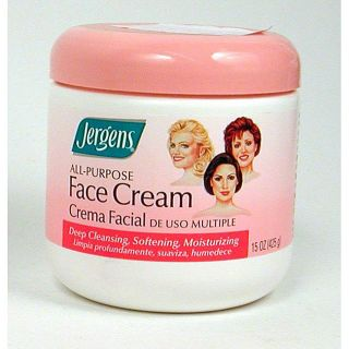 Jergens All purpose 15 ounce Face Cream (Pack of 4)
