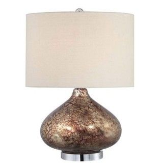 Ruby Lode Contemporary 1 light Red and Gold Glass Table Lamp
