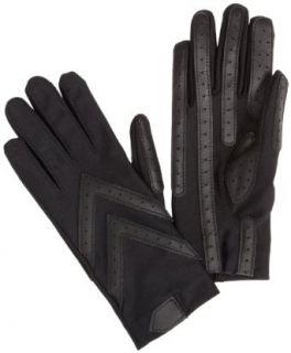 Isotoner Womens Spandex Shortie Unlined Glove,Black,One