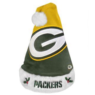 Green Bay Packers 2011 Colorblock Runoff Logo Santa Hat