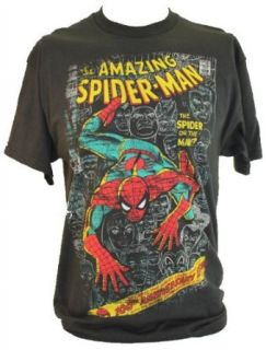 Spider man (Spiderman) Mens T Shirt   Cover of Amazing