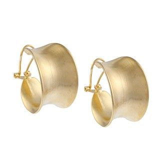 Clara Studio Goldtone Hoop Earrings