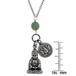 Life Good Karma Lotus and Buddha 18 inch Necklace