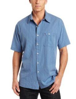 Timberland Mens Short Sleeve Seersucker Tonal Solid Shirt