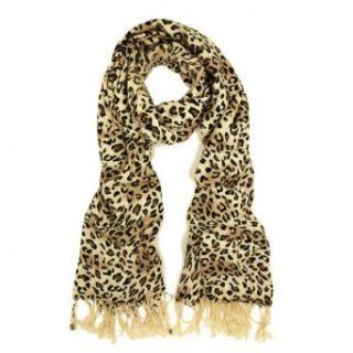 Premium Elegant Leopard Animal Print Fringe Scarf