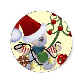 Christmas Name Tags Sticker