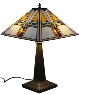 Mission Stained Glass Tiffany Style Table Lamp