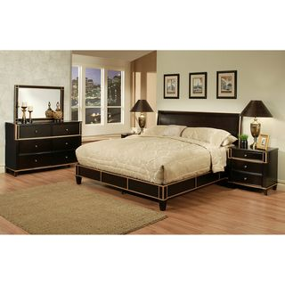 Abbyson Living Metropolitan Espresso 5 piece Platform Bedroom Set