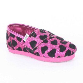 on Shoes, Size 9.5 M US Toddler, Color Pink Hearts Glitter Shoes