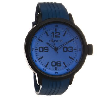 Unlisted by Kenneth Cole Mens Blue Analog Watch