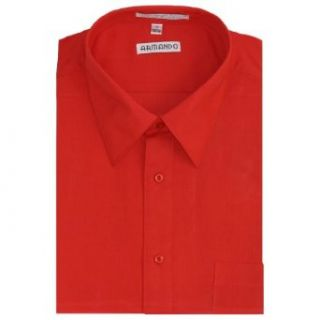 Mens Red Dress Shirt with Convertible Cuffs Clothing