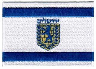 Jerusalem Flag Embroidered Patch Israel Iron On Jewish