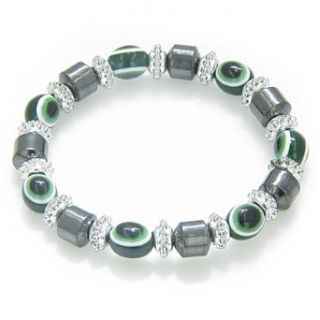 Evil Eye And Protection Magnetic Green Eyes Hematite