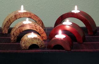 Arched Mango Wood Candle Holders (Set of 6) Today $36.49 4.6 (14
