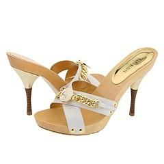 GUESS by Marciano Eccelect White Leather Sandals