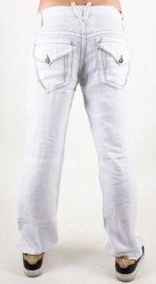 Division E Johnny Boy Saddle Stitch Linen Pants   White