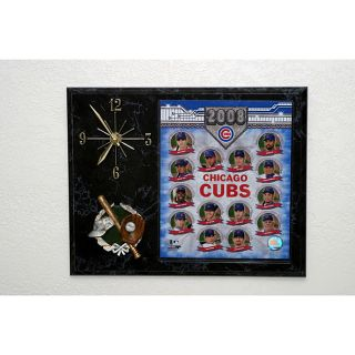 2008 Chicago Cubs Baseball Picture Clock