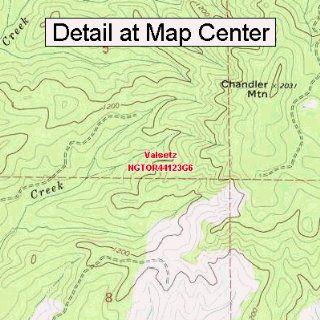 USGS Topographic Quadrangle Map   Valsetz, Oregon (Folded