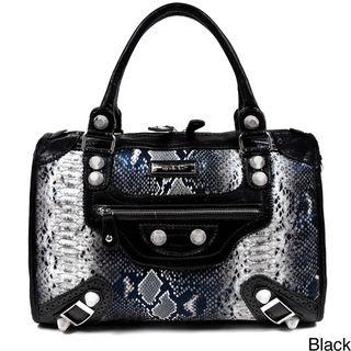 Nicole Lee Catava Python Embossed Lover Handbag