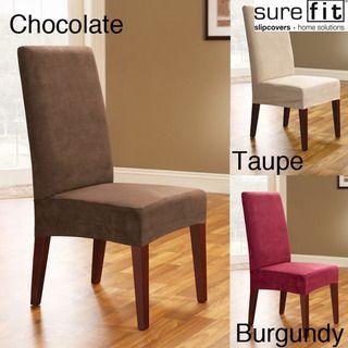 Cubiertas para silla de comedor, gamuza suave (set de 2)