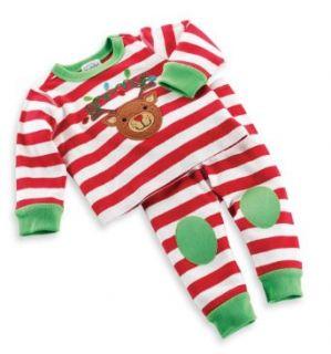 Mud Pie Unisex Baby Newborn Reindeer Long Johns Clothing
