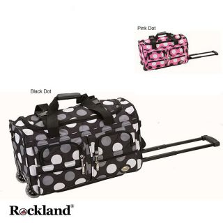 Rockland 22 inch Polka Dot Carry On Rolling Upright Duffel Bag