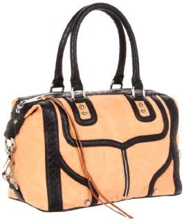 Minkoff Mab Mini Piping Shoulder Bag,Almond/Black,One Size: Shoes