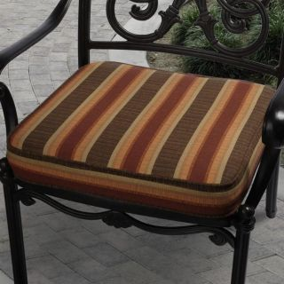 Clara 19 inch Outdoor Autumn Stripe Cushion Made with Sunbrella