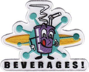Novelty Iron on   50s Retro Beverages Soda Pop Logo Patch