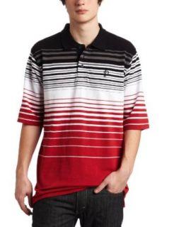 Southpole Mens Engineered Stripe Polo Shirt, Dark Red, 3X
