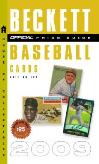 Beckett Price Guide to Baseball Cards 2009 by James Becket (Paperback