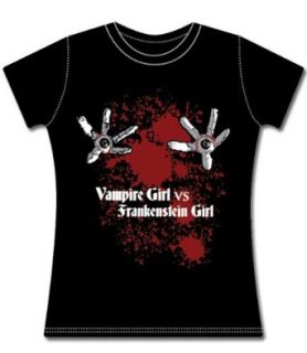 Vampire Girl vs Frankenstein Girl Eyeball Girl T Shirt