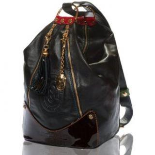 Marino Orlandi Italian Designer Black Leather Oversized