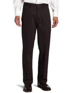 Haggar Mens Standard Khaki Plain Front Chino Casual Pant