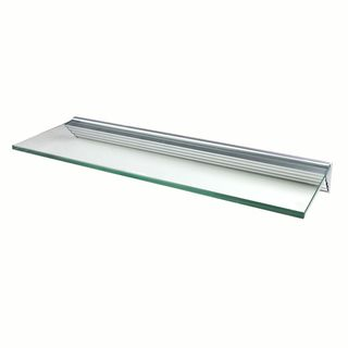 Glacier 24x12 inch Clear Glass Shelf Kits (Pack of 4)