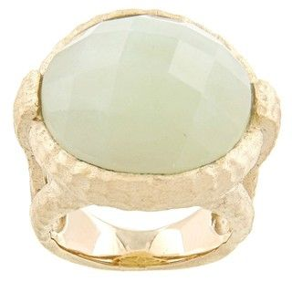 Rivka Friedman Gold Overlay Jade Ring