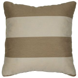 Light Brown/ Canvas 20 inch Knife edged Outdoor Pillows with Sunbrella