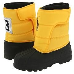 Polo Ralph Lauren Kids PLX Rugby Yellow Boots   Size 1 Y