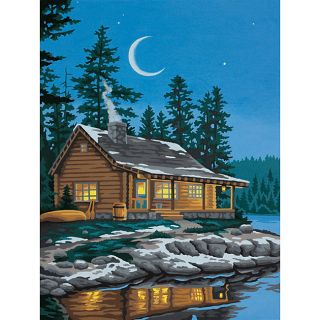 Paint by Number Lakeside Cabin Kit Today: $8.59 4.5 (2 reviews)