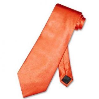 Antonio Ricci NeckTie Solid ORANGE Color Mens Neck Tie