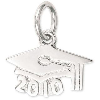 Sterling Silver 2010 Graduation Cap Charm