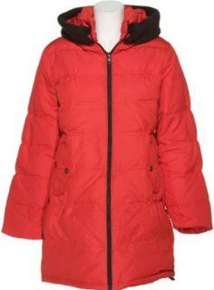 STEVE MADDEN Down Filled Walking Coat W/ Hood (RED