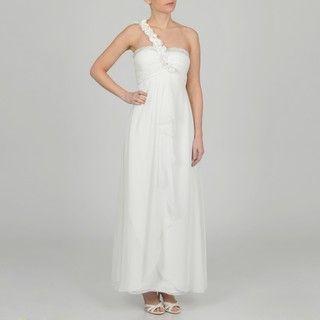 Decode 1.8 Womens Contemporary Ivory Asymmetrical Dress